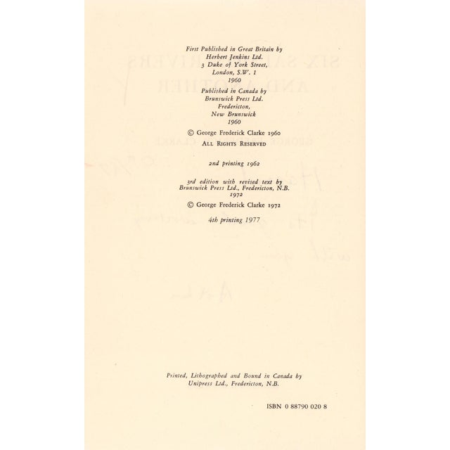 """Transitional 1977 """"Six Salmon Rivers and Another"""" Collectible Book For Sale - Image 3 of 7"""