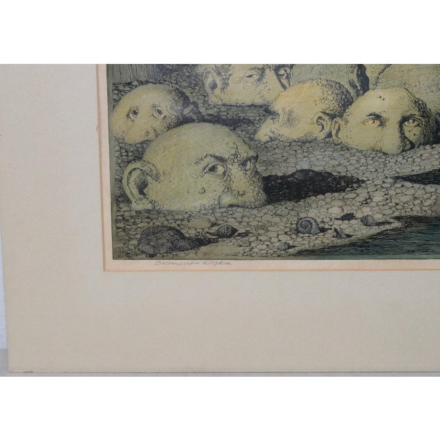 "Curt Frankenstein ""Bureaucratic Kingdom"" Limited Edition Lithograph C.1970 For Sale In San Francisco - Image 6 of 9"