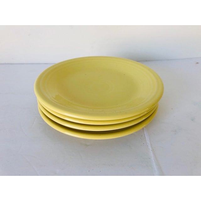 1990s Fiesta Ware Yellow Bread Plates S-4 For Sale - Image 5 of 5