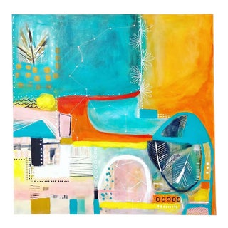Seeing the Unseen Colorful Abstract Painting by Melanie Biehle For Sale