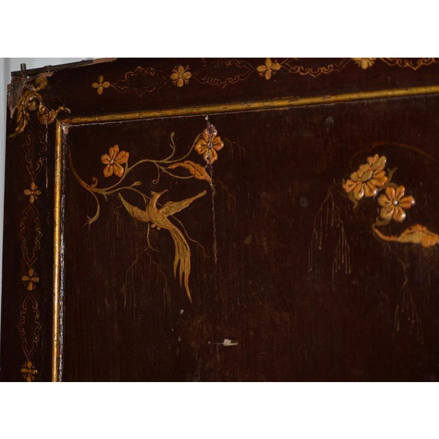 Late 18th Century 18th to 19th Century Chinese Hand Painted Door Panels - a Pair For Sale - Image 5 of 12
