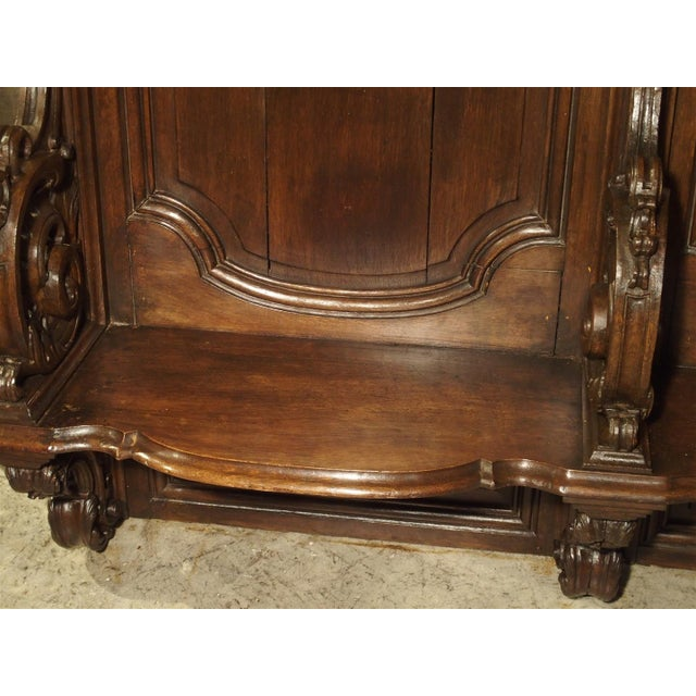 19th Century Sculpted Oak Stall from a Private Chapel in Liege, Belgium For Sale - Image 10 of 11