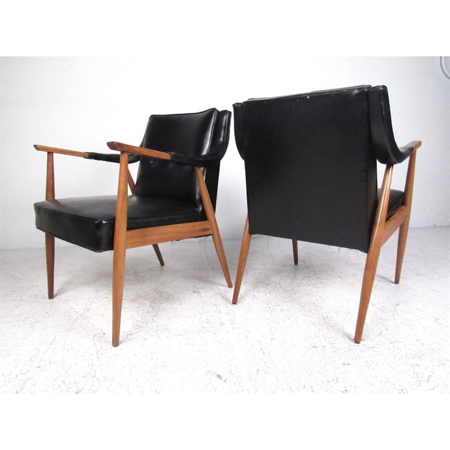Pair of Vintage Modern Armchairs For Sale - Image 13 of 13