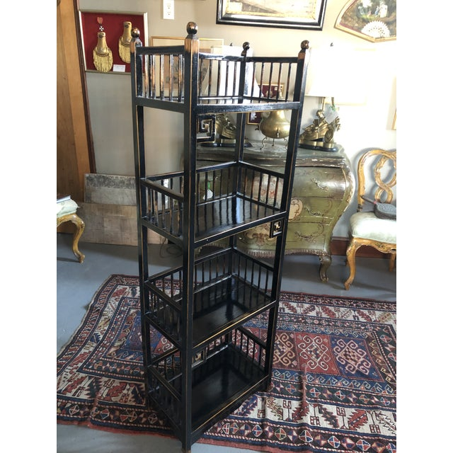 20th Century Asian Inspired Chippendale Style Etagere For Sale - Image 11 of 12