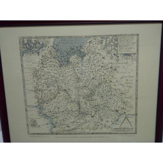 """Saxton's Map of Oxfordshire - Buckinghamshire and Berkshire - 1574"" Wood Framed Map Preview"