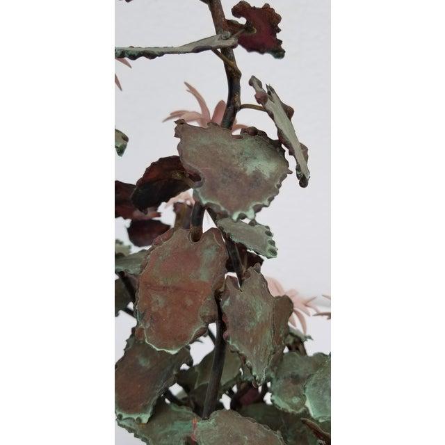 1970s 1970s Vintage Copper Plant Table Sculpture For Sale - Image 5 of 9