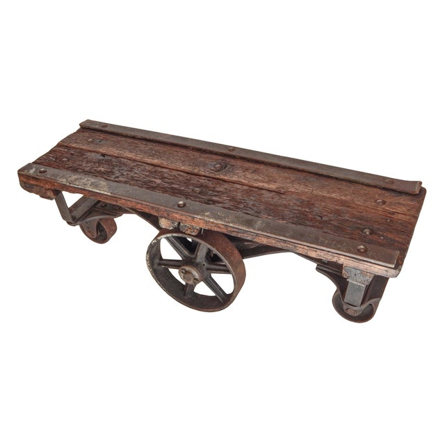 Iron Industrial Trolley Table For Sale - Image 7 of 9