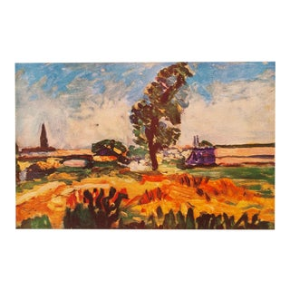"1940s Henri Matisse Original Swiss Lithograph ""Toulouse Landscape"" For Sale"