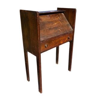 Antique Arts & Crafts Mission Quartersawn Oak Drop Front Secretary Desk For Sale