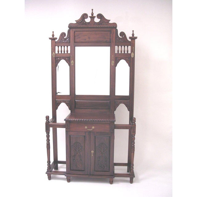 Chippendale Style Hall Tree For Sale - Image 10 of 10