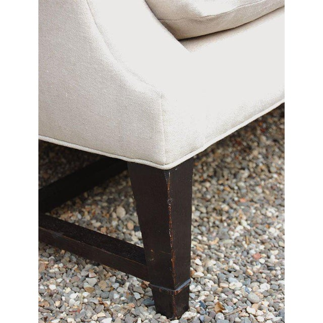 Black Wing Back Sofa For Sale - Image 8 of 9