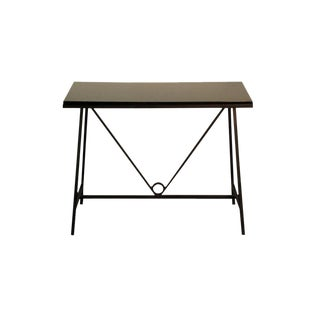"""The """"Trapeze"""" Wrought Iron and Lacquer Console For Sale"""