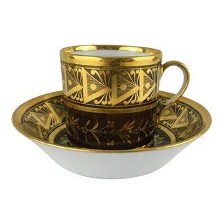 18th. Century Antique Fabrique De La Courtille Decorative Cup and Saucer For Sale