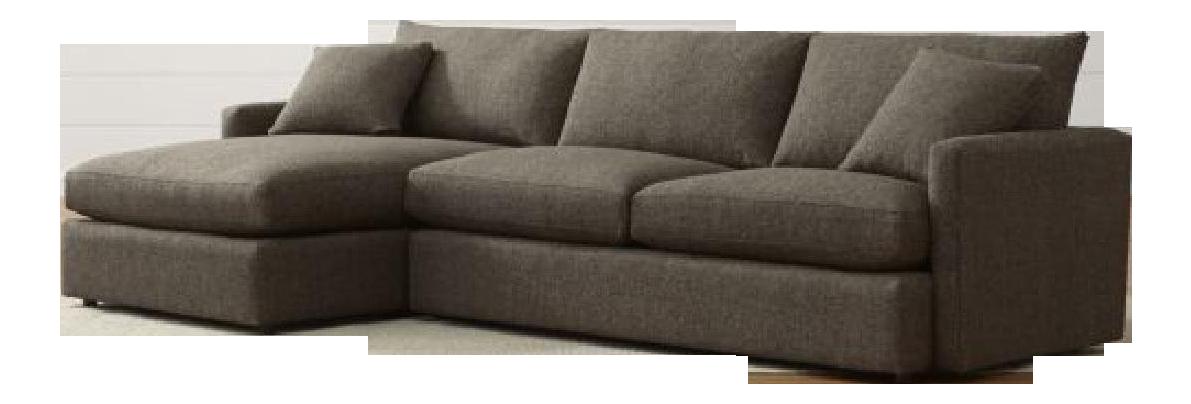 Crate barrel lounge ii petite 2 piece sectional sofa chairish