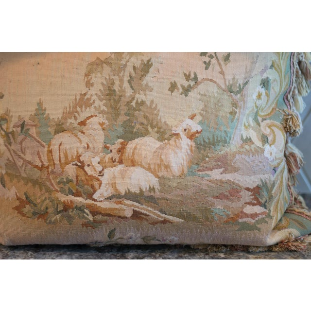 Vintage French Petti-Pointe Pillows - A Pair - Image 4 of 5