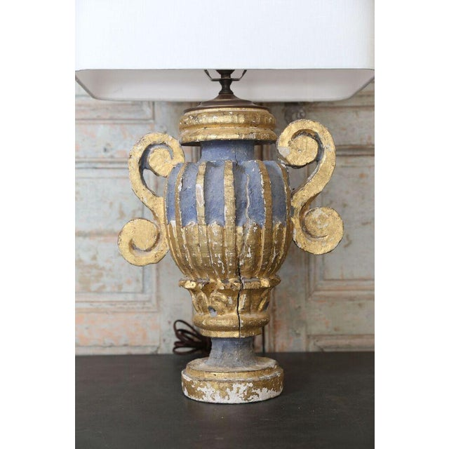Mid 19th Century Custom Polychrome Italian Lamp For Sale - Image 5 of 6