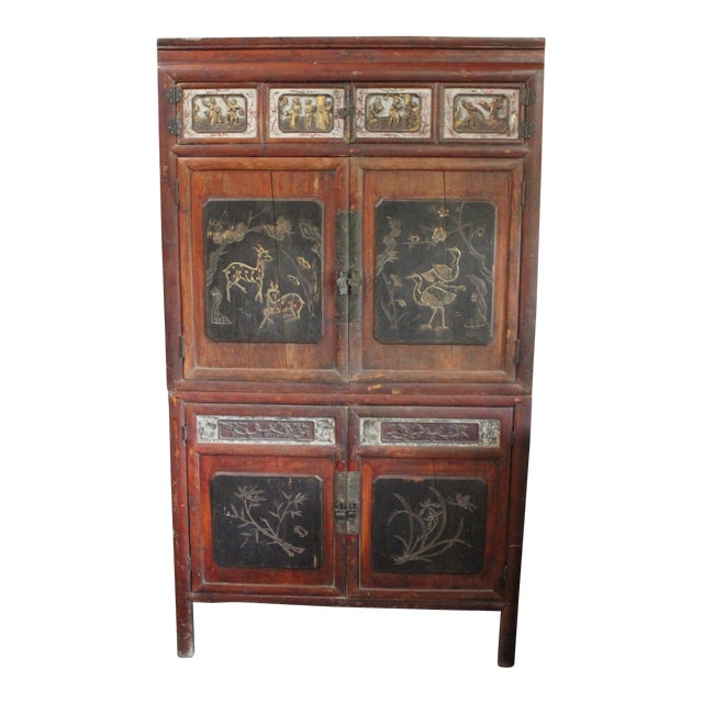 19th Century Antique Chinese Wedding Cabinet - 19th Century Antique Chinese Wedding Cabinet Chairish