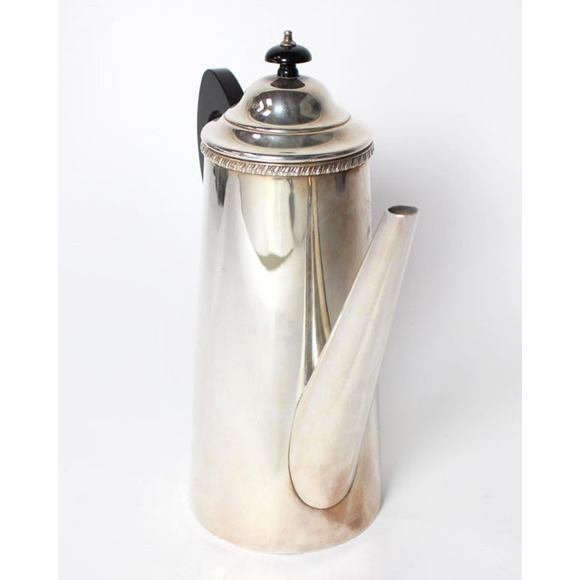 Art Deco Vintage Crafton Sheffield England Sterling Silver Coffee or Tea Pot For Sale - Image 3 of 6