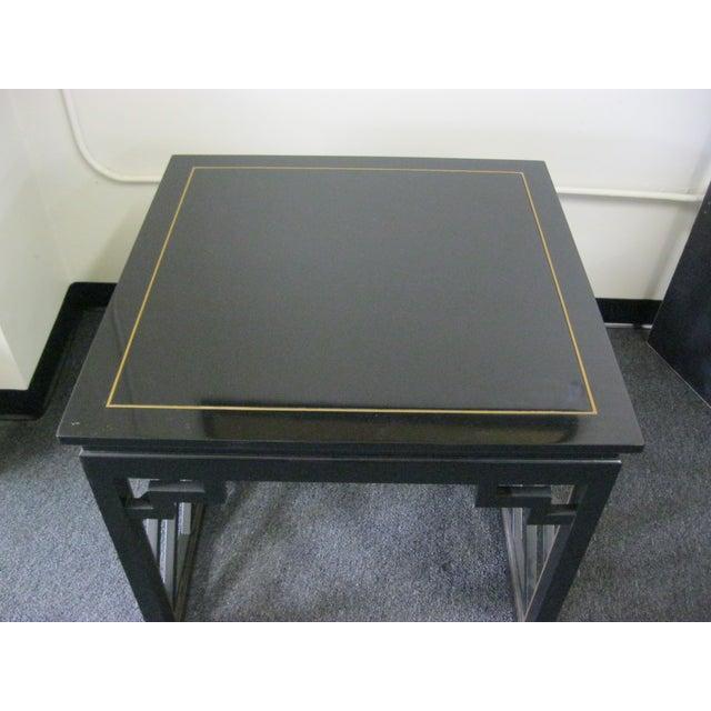 Dorothy Draper Kindel Square Trellis Lamp Table For Sale In Boston - Image 6 of 10