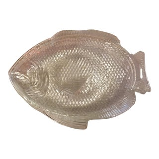 Clear Fish Salad Plates - Set of 4