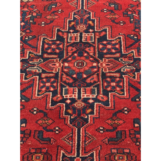 "Vintage Persian Zanjan Short Runner - 2'9"" x 6' - Image 4 of 10"