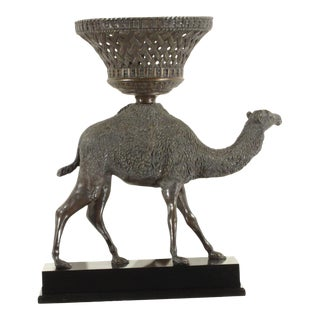 Pasargad N Y Bronze Camel Sculpture For Sale