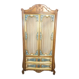 Vintage Mastercraft Furniture French Provincial Armoire For Sale