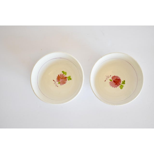Antique C. 1810-1820 Pink Luster Staffordshire Creamware Tea Bowls - a Pair For Sale In San Francisco - Image 6 of 13