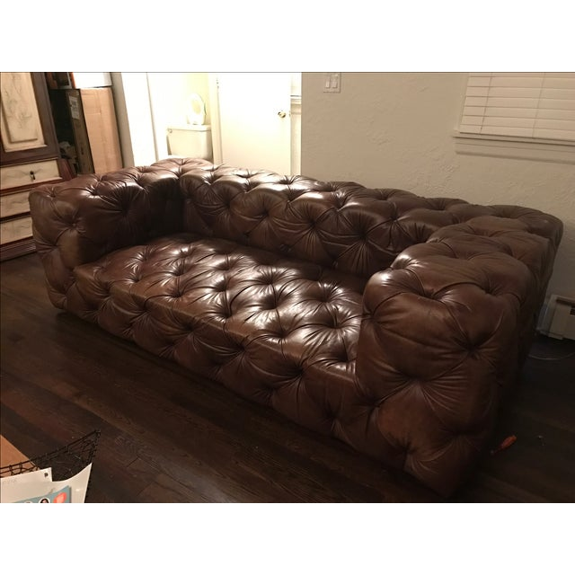 Leather Sofas For Sale In Northern Ireland: Restoration Hardware Soho Tufted Leather Sofa