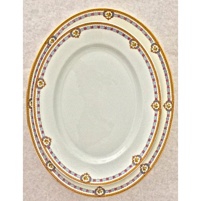 Vintage Limoges Bernardaud Serving Platters. These platters are delightful. Roses are encrusted in a cobalt cartouche....
