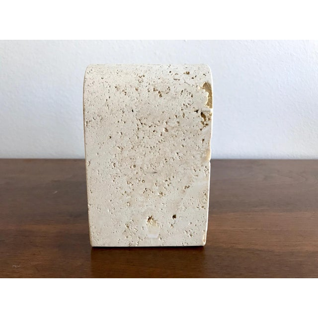 White Fratelli Mannelli Travertine Elephant Bookend For Sale - Image 8 of 11