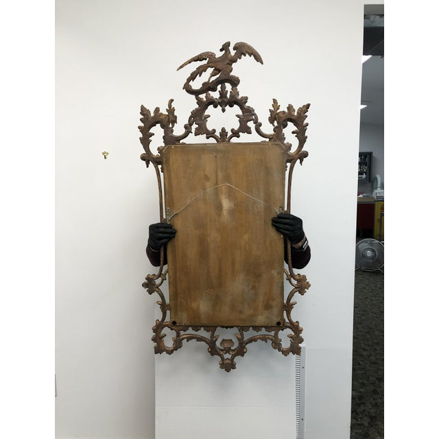 18th Century English Chippendale Chinoiserie Style Wall Mirror For Sale - Image 12 of 13