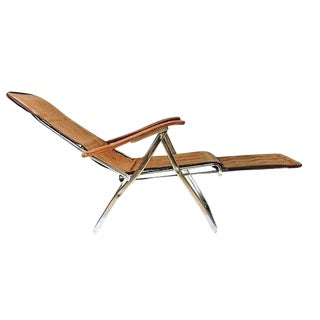 Mid Century Modern Reclining Lounge Chair Italian Arm Chair Folding Lounge Chair For Sale