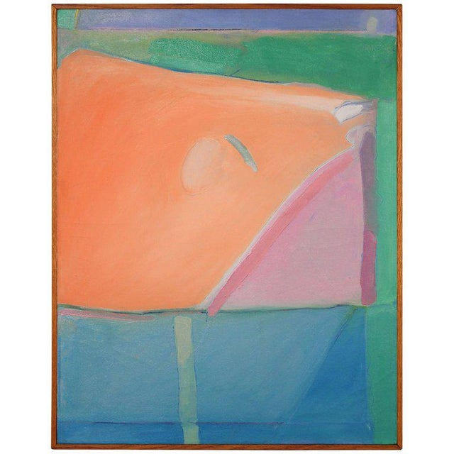 1980s Richard Diebenkorn Style Abstract Expressionism Painting For Sale In Dallas - Image 6 of 6