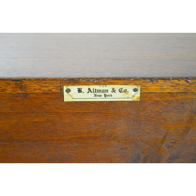 B. Altman & Co. New York Vintage Mahogany Federal Style Sideboard For Sale - Image 11 of 13