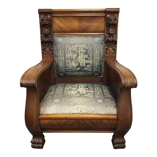 Antique Mahogany Lion's Head Empire Chair - Antique Mahogany Lion's Head Empire Chair Chairish