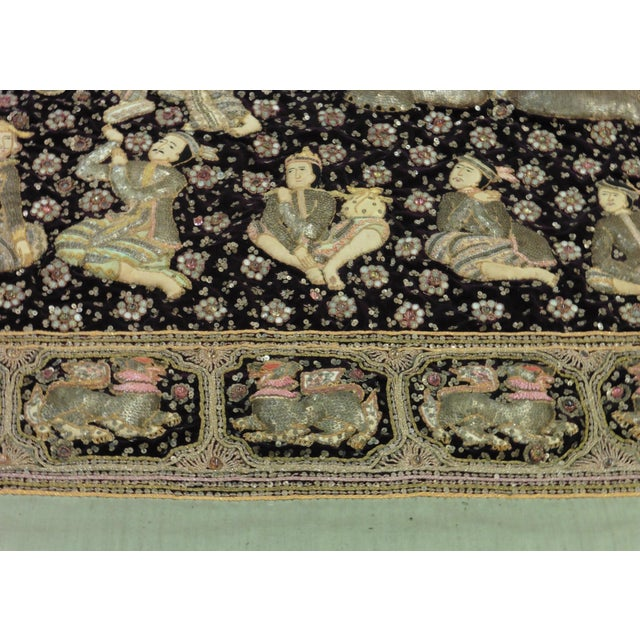 Asian Embroidered Kalaga Tapestry For Sale - Image 3 of 4