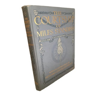 Early 20th Century Antique Henry Wadsworth Longfellow The Courtship of Miles Standish Book For Sale