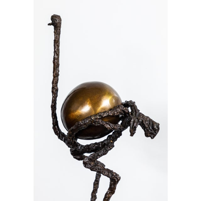Bronze Ostrich Sculpture For Sale - Image 10 of 11