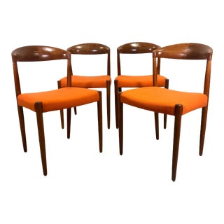 Mid Century Danish Modern Chairs Knud Andersen j.c.a Jensen - Set of 4 For Sale