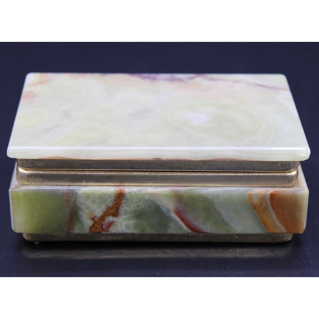 Vintage Light Green Marble Lidded Treasure Box For Sale - Image 13 of 13