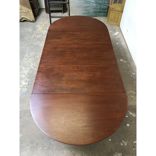 T.H. Robsjohn-Gibbings Expandable Round Mahogany Dining Table For Sale - Image 13 of 13