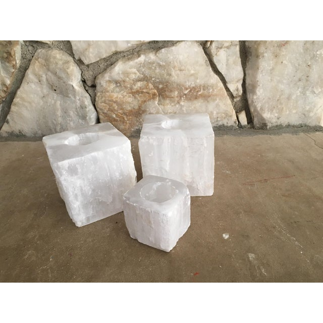 Solid Crystal Votive Holders - Set of 3 - Image 3 of 7