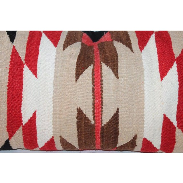 Navajo Indian Saddle Blanket Pillows - Set of 3 For Sale - Image 9 of 11