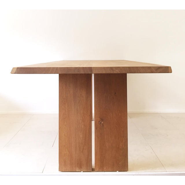 White Oak Slab Live Edge Dining Table - Image 5 of 9