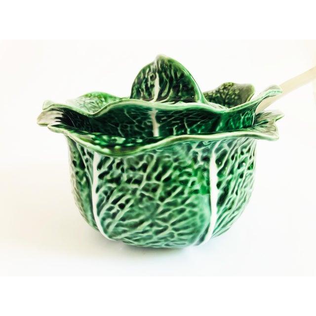 Vintage Cabbageware Lidded Serving Bowl For Sale - Image 4 of 13