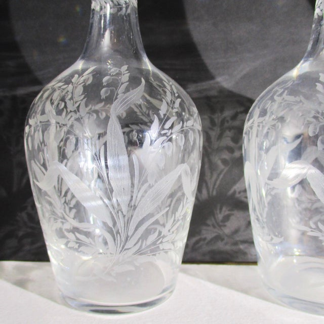 Antique Cut Glass Liqueur Decanters - Set of 3 For Sale - Image 4 of 8