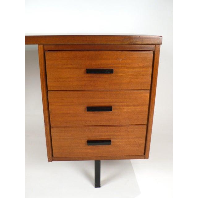 Three Drawer Danish Desk For Sale - Image 9 of 10