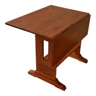 Crafters and Weavers Mission Solid Oak Drop Leaf Dining Table - Michael's Cherry (Mc1) For Sale