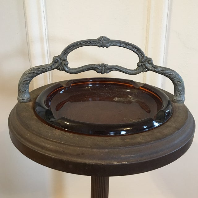 Vintage Smoking Cigar Floor Stand Ashtray For Sale - Image 4 of 8